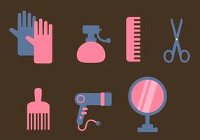Vettore di elementi di styling dei capelli