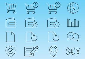 Linea icone per negozio vettore