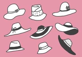 Vettori di cappelli di illustrazione stile gratis