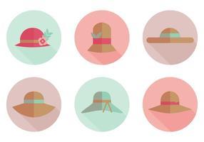 Icone piane di vettore del cappello
