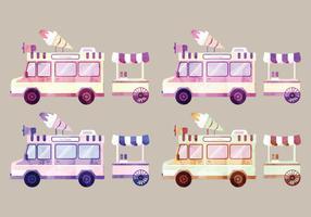 Vector acquerello furgoni
