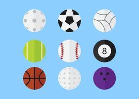 Pacchetto di palloni sportivi vettore