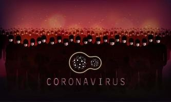 banner di coronavirus rosso