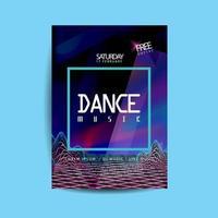 volantino di musica da ballo di onde sonore