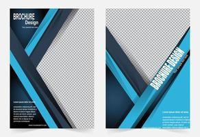 modello di copertina a strati blu