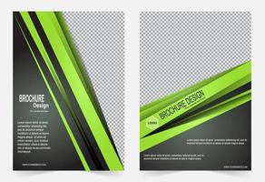 modello di copertina verde
