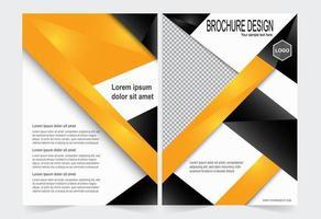 copertina brochure arancione e nera vettore