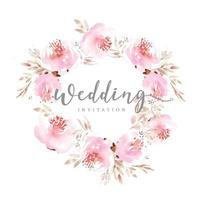 corona di nozze floreale rosa
