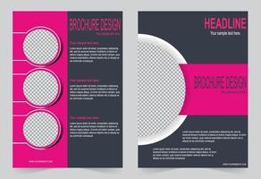 modello di copertina grigio e rosa