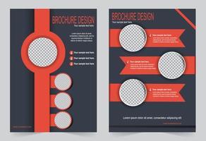 set copertina cerchio arancione e grigio vettore