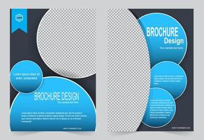 modello di copertina immagine cerchio