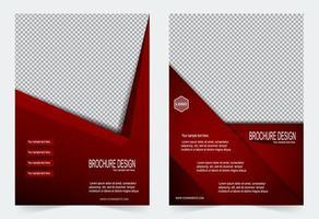 set di modelli di copertina design angolo rosso vivo