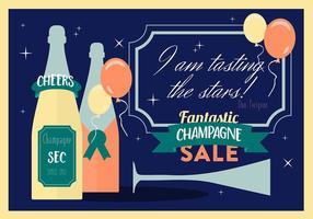 Vari moderno sfondo piatto vettoriale di champagne