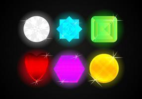 Illustrazioni di vettore dei gioielli delle gemme di strass