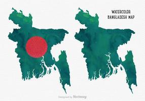 Mappa di Bangladesh dell'acquerello di vettore gratis