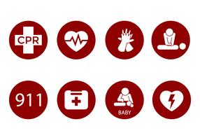 CPR gratuito Icon Vector