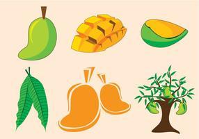 Vettore dell'albero di mango