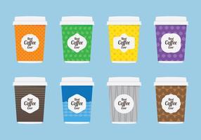 Icona piatta manica caffè vettore
