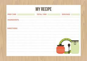 Carte di ricette vettoriali