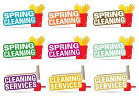 Vettori di titolo di pulizie di primavera