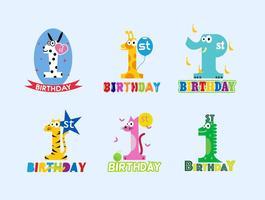1 ° compleanno gratuito vettore