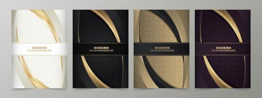 set di modelli moderni di colore scuro e chiaro