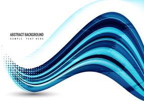 Vettore di onda blu gratis