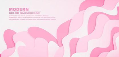 sfondo realistico onda rosa vettore