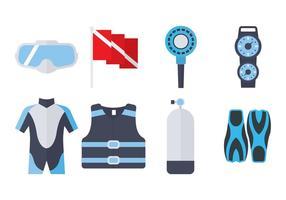 Icona piana di attrezzature per immersioni