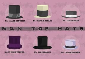 Vettore superiore dei cappelli dell'uomo