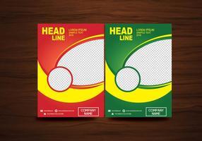 layout di progettazione volantino brochure vettoriale