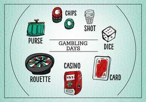 Gioco d'azzardo giornaliero vettore