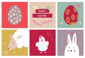 Icone di vettore dell'uovo di Pasqua