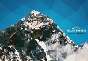 Vettore di Mount Everest gratuito di poligono