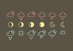 Vettori di icona meteo vettoriale