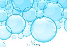 Fondo blu delle bolle del sapone di vettore