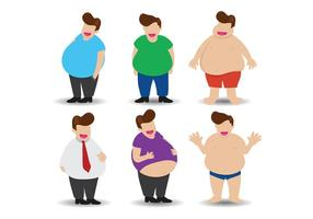 vettore di ragazzo grasso