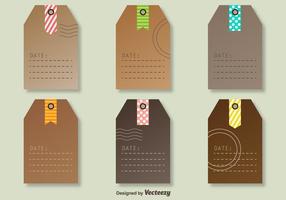 Etichette di vettore con i segni decorativi delle poste