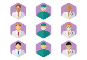 set di figure mediche