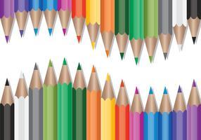 Set di matite colorate vettoriale