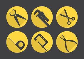 Set di icone vettoriali di strumenti di lavoro