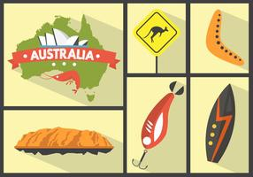 Icone vettoriali australiano