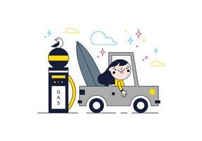 Vettore di viaggiatore gratuito
