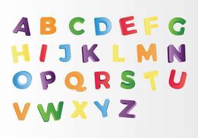 Vettori di magneti lettera frigo gratis