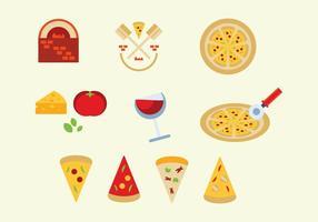 Insieme di vettore di pizza