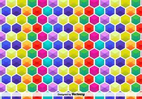 Modello esagonale colorato vettoriale