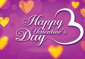 Vettore viola di giorno di biglietti di S. Valentino