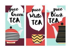 Sfondo vettoriale di tè gratis