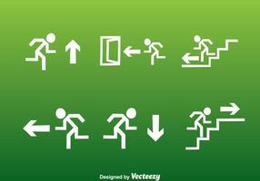 Set di icone di uscita bianco