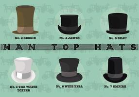 Vettori di cappelli da uomo